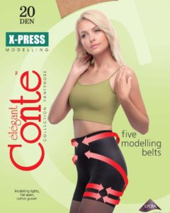 "Body-shaping pantyhose ""X-PRESS"" 20 DEN BellaConte"