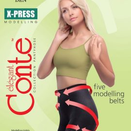 X-PRESS 20 DEN - thin modelling tights with special design panties with slimming effect BellaConte