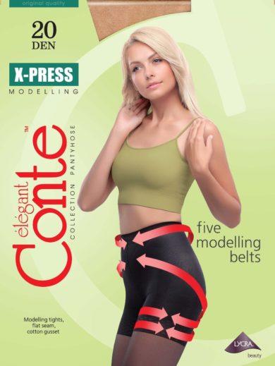 """Body-shaping pantyhose """"X-PRESS"""" 20 DEN BellaConte"""