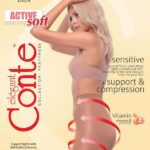 dense supporting pantyhose with graded compression, massage effect