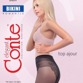 BIKINI 20 DEN Thin, elegant and feminine pantyhose with lace panties BellaConte