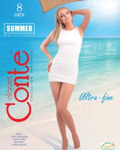 SUMMER 8 DEN - ultra-fine tights with invisible toe BellaConte