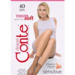 silky and comfortable socks with a reinforced top for sensitive skin, 40 den – BellaConte