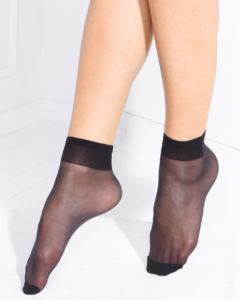 TENSION SOFT elegant socks with Vitamin E Black BellaConte