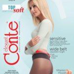 TOP SOFT 40 DEN elastic dense pantyhose with the wide adjustable belt BellaConte