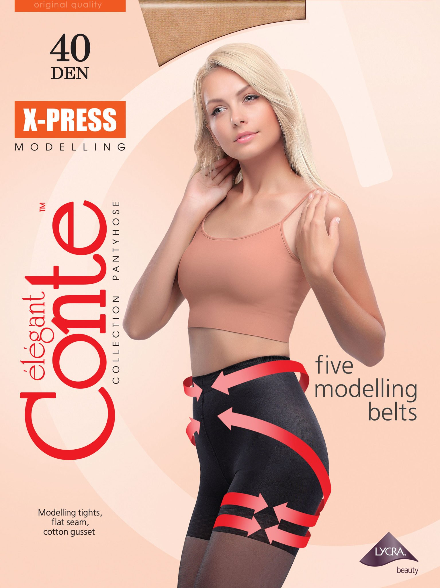dense modelling body-shaping pantyhose - BellaConte