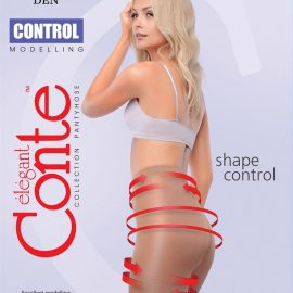thin body-control tights with graded compression and support top