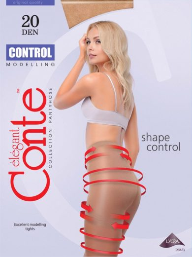 "Thin modelling tights ""CONTROL""20 DEN with graded compression BellaConte"