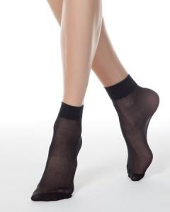elegant socks 40 DEN with Vitamin E with reinforced top and toe_BellaConte_black