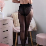 sheer silky comfortable tights with a beautifully finished bikini bottom 2