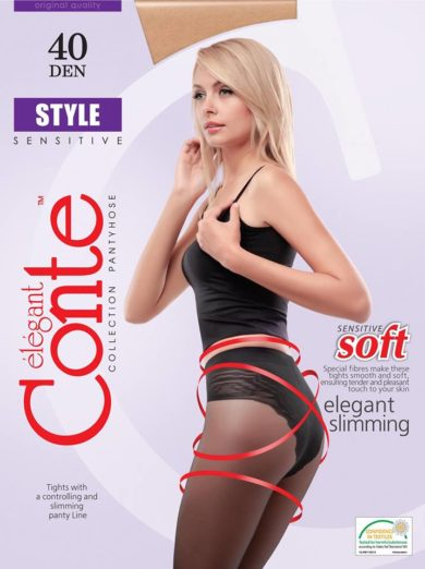 body-shaping elastic tights with controlling and slimming panties 90 DEN BellaConte