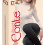 COTTON TIGHTS 150 DEN – warm, thick pantyhose, Lycra 3D, BellaConte