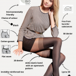 50 den fashion tights with the imitation of stockings BellaConte