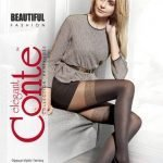 Beautiful – 50 den fashion tights with the imitation of stockings BellaConte
