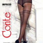 thin elastic fantasy tights with small fishnet effect and back side seam BellaConte