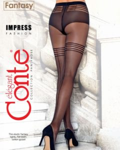 IMPRESS -fishnet fantasy tights with a back seam BellaConte
