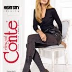 NIGHT CITY –  abstract fashion tights with stars, asymmetric pattern_BellaConte