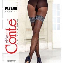 PASSAGE - thin elastic dot pattern pantyhose, imitating stockings