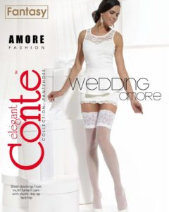AMORE 20 DEN BRIDAL HOLD-UPS BellaConte