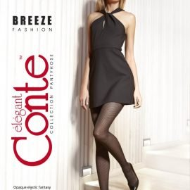 mat fashion tights with an ajour pattern in the form of small diamonds_BREEZE_BELLACONTE
