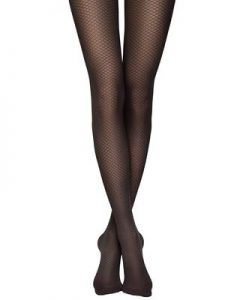 Breeze - mat fashion tights with an ajour pattern in the form of small diamonds_BellaConte 1