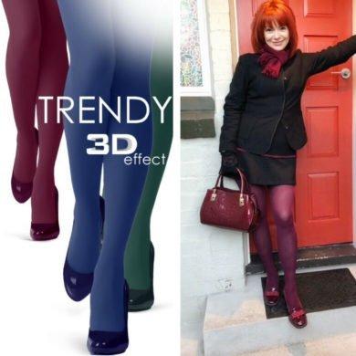 TRENDY Burgundy tights BellaConte