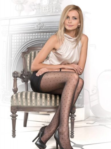 Dots Sheer Thin 20 den fantasy pantyhose BellaConte