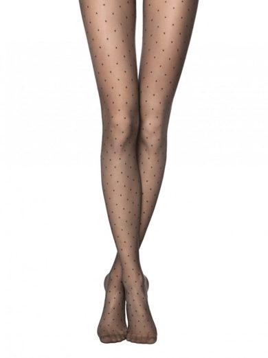 """Which black pantyhose can I wear this season? Fantasy tights """"DOTS""""Black BellaConte"""