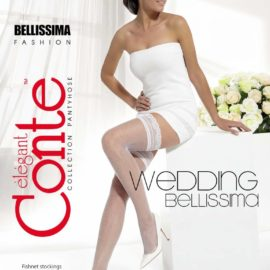 BELLISSIMA 20 den hold-ups stockings with a very fine Micronet design