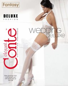 DELUXE 20 DEN BRIDAL HOLD-UPS BellaConte
