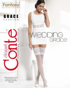 GRACE 20 DEN BRIDAL HOLD-UPS 20 den bridal  (stay-ups) stockings
