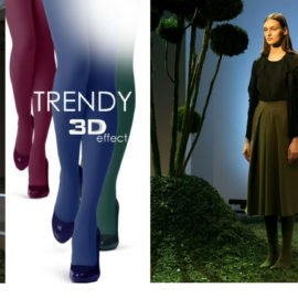 How to Be Trendy with Colored Tights in Autumn /Winter 2018-2019