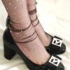 Fashion socks Sheer Glitter STAR&MOON Black BellaConte
