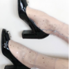 Fashion socks Sheer Glitter STAR&MOON Grey BellaConte
