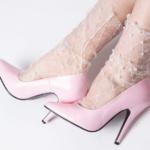 Socks Rhombus&Rhinestone – fishnet socks with rhombus&rhinestones