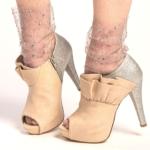 Socks with multi-coloured beads – mesh glitter rhinestone fishnet socks Pink BellaConte