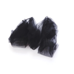 Mesh tulle plain socks Black BellaConte