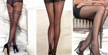 What hosiery products wear for a retro party? Chic & Polished stockings; Polka Dots pantyhose; Shades of Tartan tights; Stripes hosiery garments.